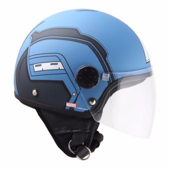 Marvel Open-Face Helmet Avengers Captain America 76Am (Blue-new)