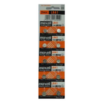 Maxell Alkaline Battery LR41 Pack of 10