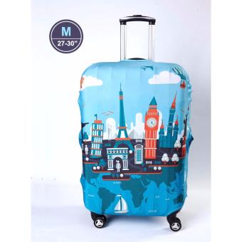 "(Medium) New Design Travel Luggage Cover Protective Stretchablewaterproof (23-26"") Price Philippines"