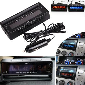 MEGA Auto Car Temperature Voltage Clock Thermometer Meter MonitorDigital LCD - 5