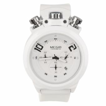 Megir Silicone Strap Men's Watch AC2004 (White)