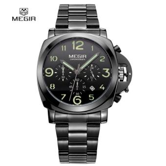 Megir Stainless Steel Strap Men's Watch 3406 (Black)