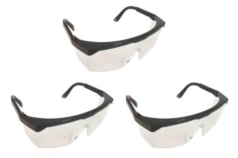 Meisons safety goggles spectacle side wall normal lens (3 set)