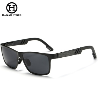 Men Aluminum Polarized Lens Sunglasses Men Sport Mirror Driving Sun Glasses Square Goggle Eyewear Accessories - intl