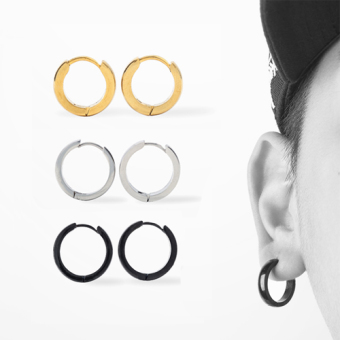 Men hip-hop ear ring stud