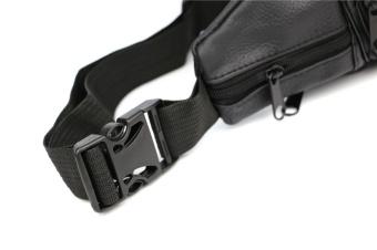Men Leather Pockets Waist Bag Sports Leisure Waterproof Multi - Functional Business Cashier Male Bag - 4