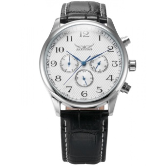 Men Mechanical Analog Multifunction Date Business Sport Leather Wrist Watch Gift PMW036 - intl