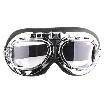 Men Motorcycle Helmet Goggles (Transparent)