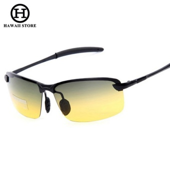 Men Night and Day Dimming Night Vision Driving Polarized Sunglasses Men Aluminum Magnesium Male Sunglasses Glasses - Intl