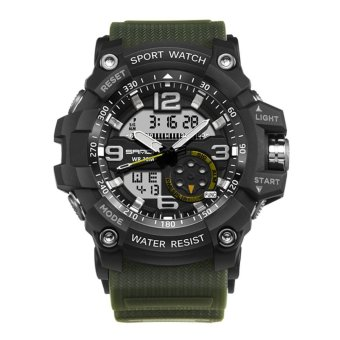 Men Watch Waterproof Military Digital Analog Quartz for SANDA (Color 1) - intl