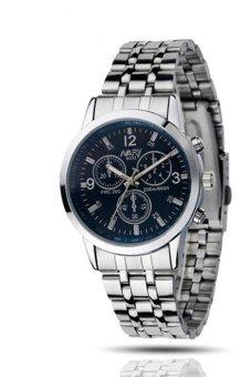 Men Waterproof Stainless Steel Wrist Watch - Blue