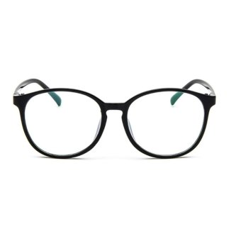 Men Women Clear Plain Lens Oval Plastic Full Frame Glasses Specs Eyeglasses HOT Black - intl Price Philippines