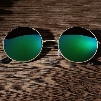 Men Women Retro Vintage Round Mirrored Sunglasses Eyewear Outdoor Sports - intl
