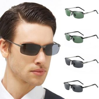 Men's Polarized 100%UV400 HD Night Vision Driving Glasses Aviator Sunglasses - intl - 5
