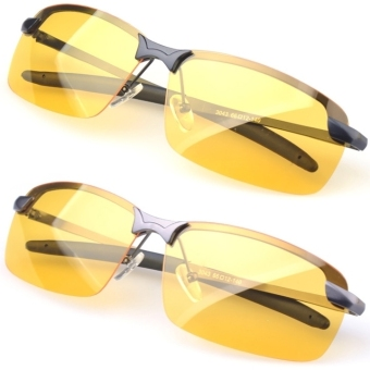 Men's Polarized Driving Sunglasses Yellow Lens Night Vision Driving - 5