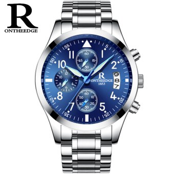Men's Sports Waterproof Luminous Fine Steel Quartz Wristwatch