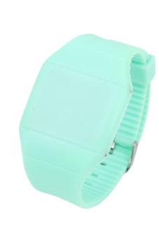 Men's Green Silicone Strap Watch