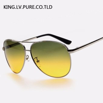 Men's sunglasses day and night driving glasses Polarized sunglassesmetal frame sun glasses for men vintage Polaroid lens brand