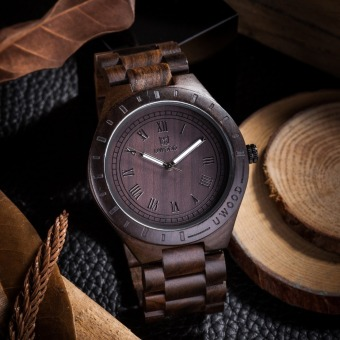 Mens Wooden bamboo Top Luxury Dress Casual Quartz Watches Wrist Watch(Brown)
