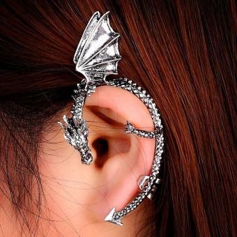 Metal Dragon Bite Ear Cuff Wrap Earring Gothic Punk TemptationEarring SL - intl