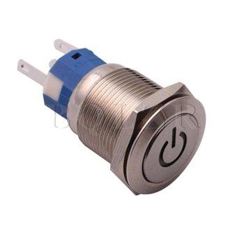 Metal Push Button Switch (Silver)