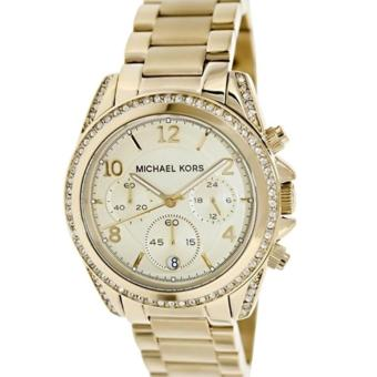 Michael Kors Blair Ladies' Gold Stainless Steel Strap Watch MK5166