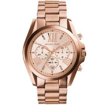 Michael Kors Bradshaw Chronograph Unisex Rose Gold Stainless Steel Strap Watch MK5503