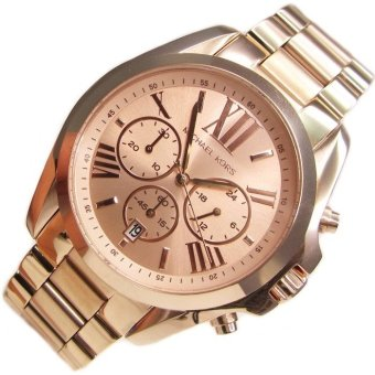 Michael Kors Bradshaw Chronograph Unisex Rose Gold Stainless Steel Strap Watch MK5503 - 3