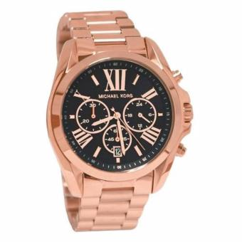 Michael Kors Bradshaw Rose Tone Black Dial Chronograph Watch MK5854 Price Philippines