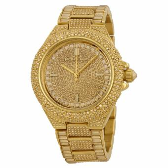 Michael Kors Camille Crystal Encrusted Gold Ion-plated Women's Watch-MK5720