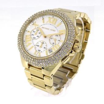 Michael Kors Camille Glitz Chronograph Gold Women's Large Size-MK5756 - 2