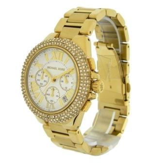 Michael Kors Camille Glitz Chronograph Gold Women's Large Size-MK5756 - 3
