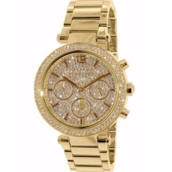 Michael Kors Gold-Tone Glitz Dial Parker Women's Watch-MK5856 Price Philippines