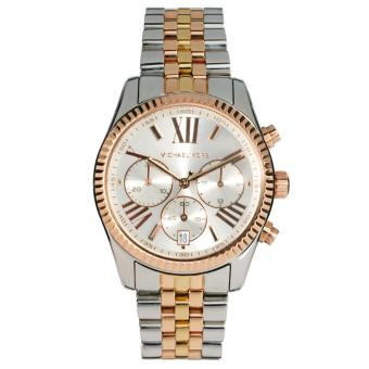 MICHAEL KORS Lexington Chronograph Ladies Tri-Tone Stainless Steel Strap Watch