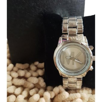 Michael Kors Medium Size Accent Wrist Watch in Silver Tone