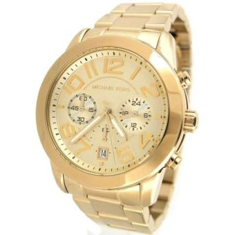 Michael Kors Mercer Gold Chronograph Women's Large Size Watch-MK5726