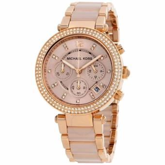 Michael Kors Parker Rose Gold Acetate Chronograph Women's MidsizeWatch-MK5896 Price Philippines