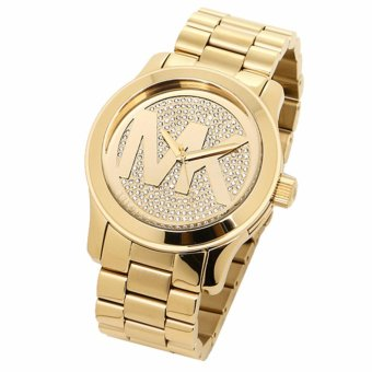 Michael Kors Runway Gold Dial Crystal Pave Gold-tone Ladies Watch MK5706