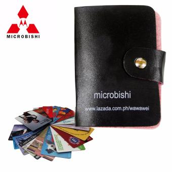 Microbishi Wallet Holder Pocket Business ID Credit Card CaseColorful Purse Coin bag Pouch (Black)