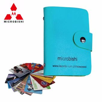 Microbishi Wallet Holder Pocket Business ID Credit Card CaseColorful Purse Coin bag Pouch (Blue) #31652