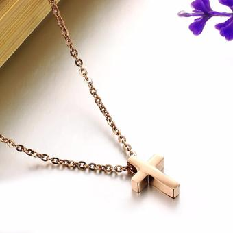 MINI CROSS PENDANT GOLD PLATED NECKLACE