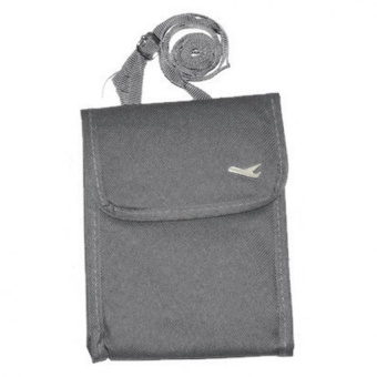 Mini Passport Sling Bag Travel Pouch (Grey) with Free Travel MateToiletry Kit Organizer (Color may vary)
