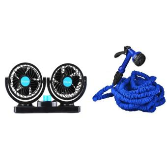 Mitchell HX-T303 Double Headed Vehicle Fan With Expandable FlexibleGarden Hose(up to 50 ft)