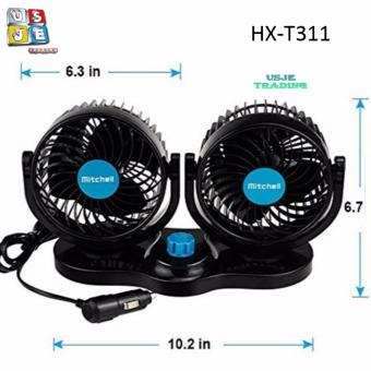 Mitchell HX-T311 Double-Headed Vehicle Fan 5 Inches