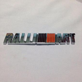 Mitsubishi Ralliart Chrome Stick On Emblem
