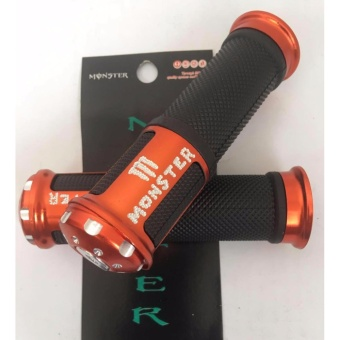 Monster Racing Stylish Motorcycle Handle Grip(ORANGE) Price Philippines