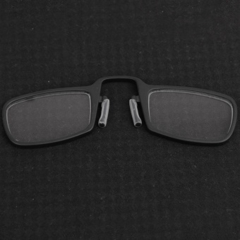 Moonar Unisex Portable Mini Nose Clip Reading Glasses with Case Without Legs (+1.00,Black) - intl - 2