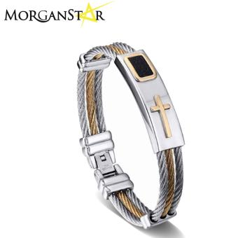 Morganstar Keep the Faith Cross Jesus Premium Stainless Steel Bracelet