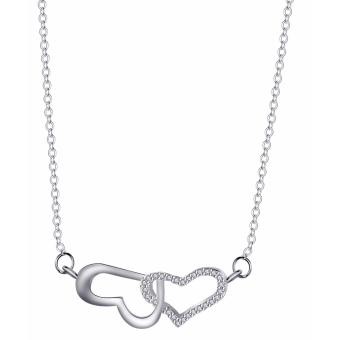 Morning Star MS1867 92.5% Silver Heart Center Necklace