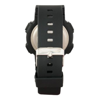 Mossimo Blair Unisex Black Silicone Strap Watch MS-1407G-BLK - 3